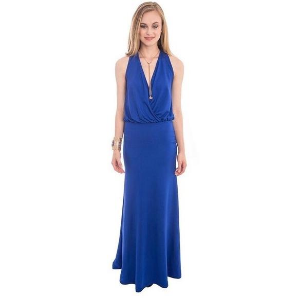 Brand New Abi Ferrin Blue Regina Gown